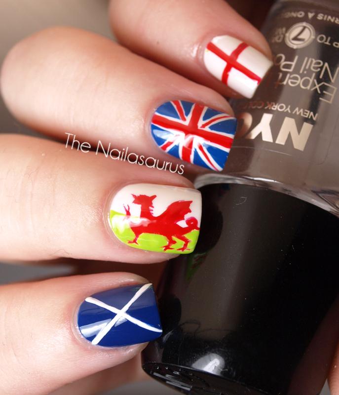 Day 28: Inspired by a Flag - The Nailasaurus | UK Nail Art Blog