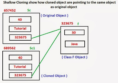 Shallow Cloning in java ~ Java Tutorial