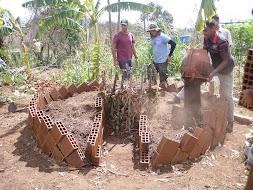 Construção Horta Poço de Nutrientes