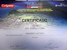 Membro da Associação Latinoamericana de odontologia para pacientes com necessidades especiais