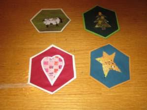 Woven paper ornaments 1