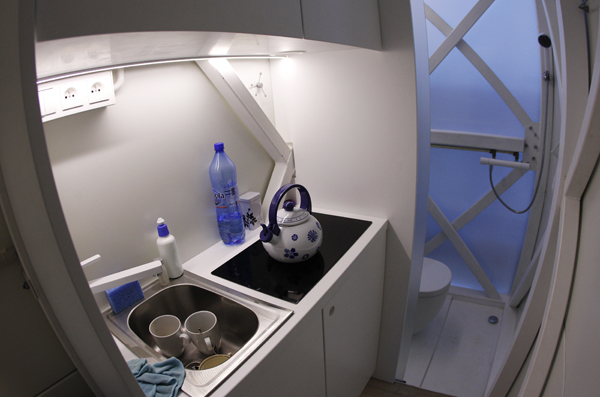 Picture of small kitchen in the world's thinnest house