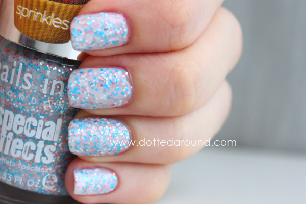 Nails Inc sprinkles sweets way swatch
