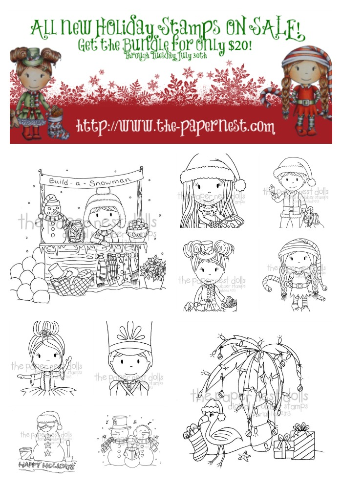 Paper Nest Dolls Christmas Set