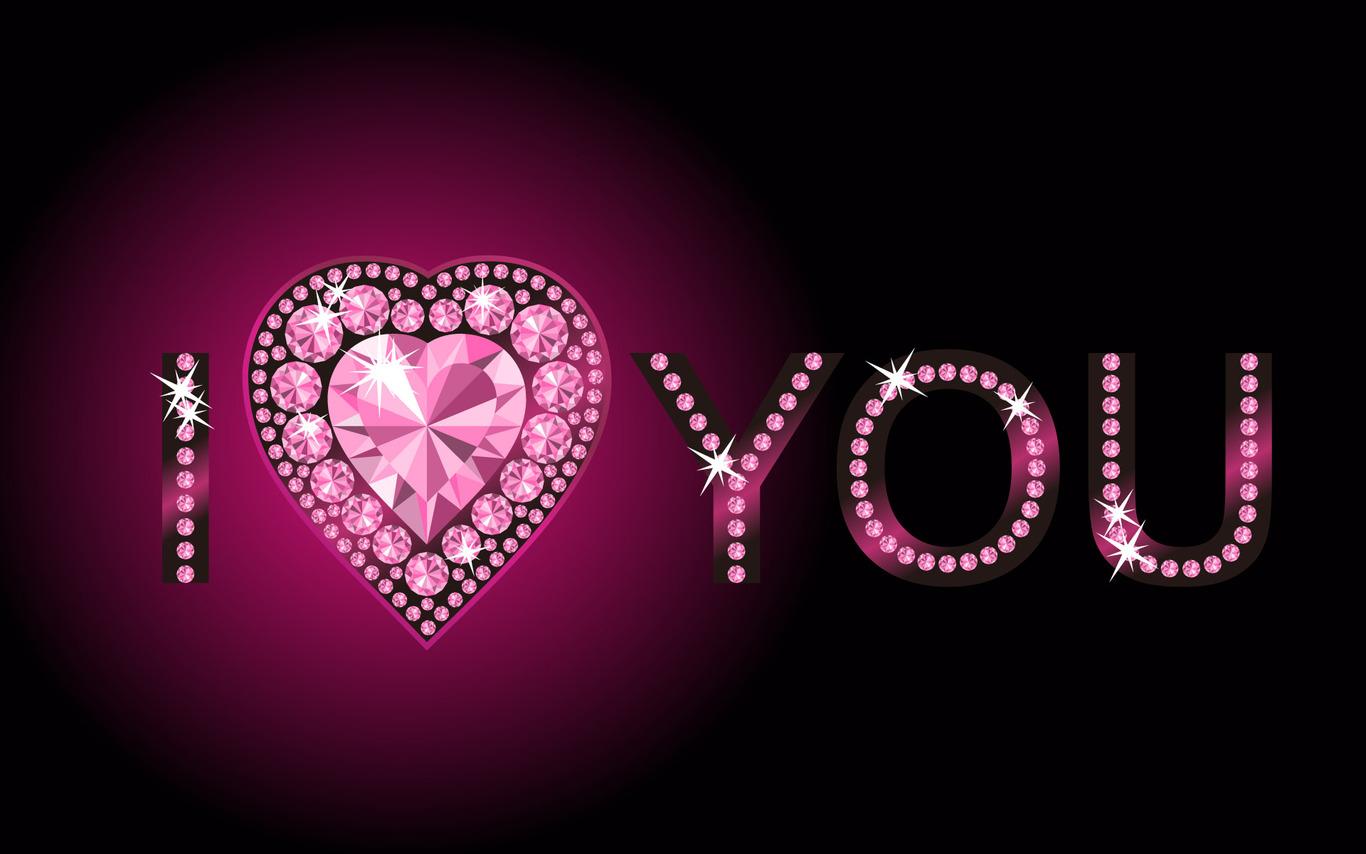 """Imagenes de Amor en hd con la frases I love you Esta puesta por una joya en forma de corazon y la hermosa frase en ingles que significa """" Te Amor """""""