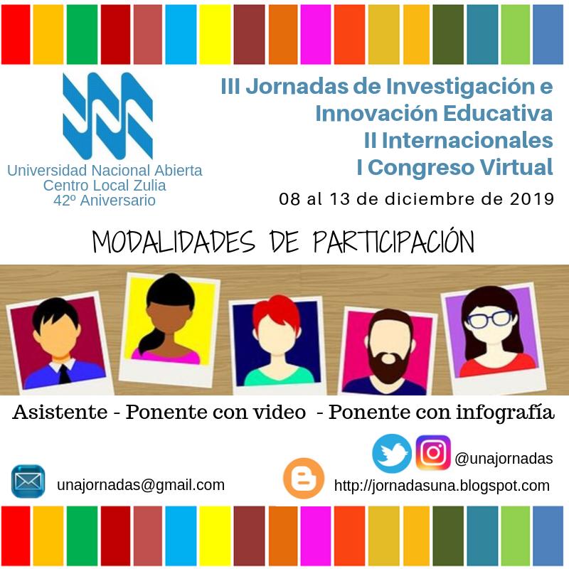 III Jornadas de Investigación  e Innovación Educativa - II Internacionales - I Congrso Virtual