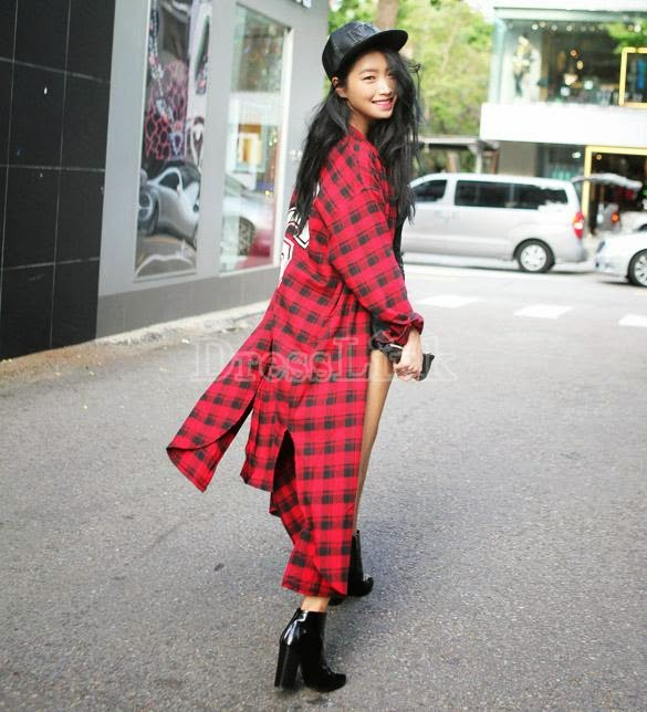 Long Plaid Shirt