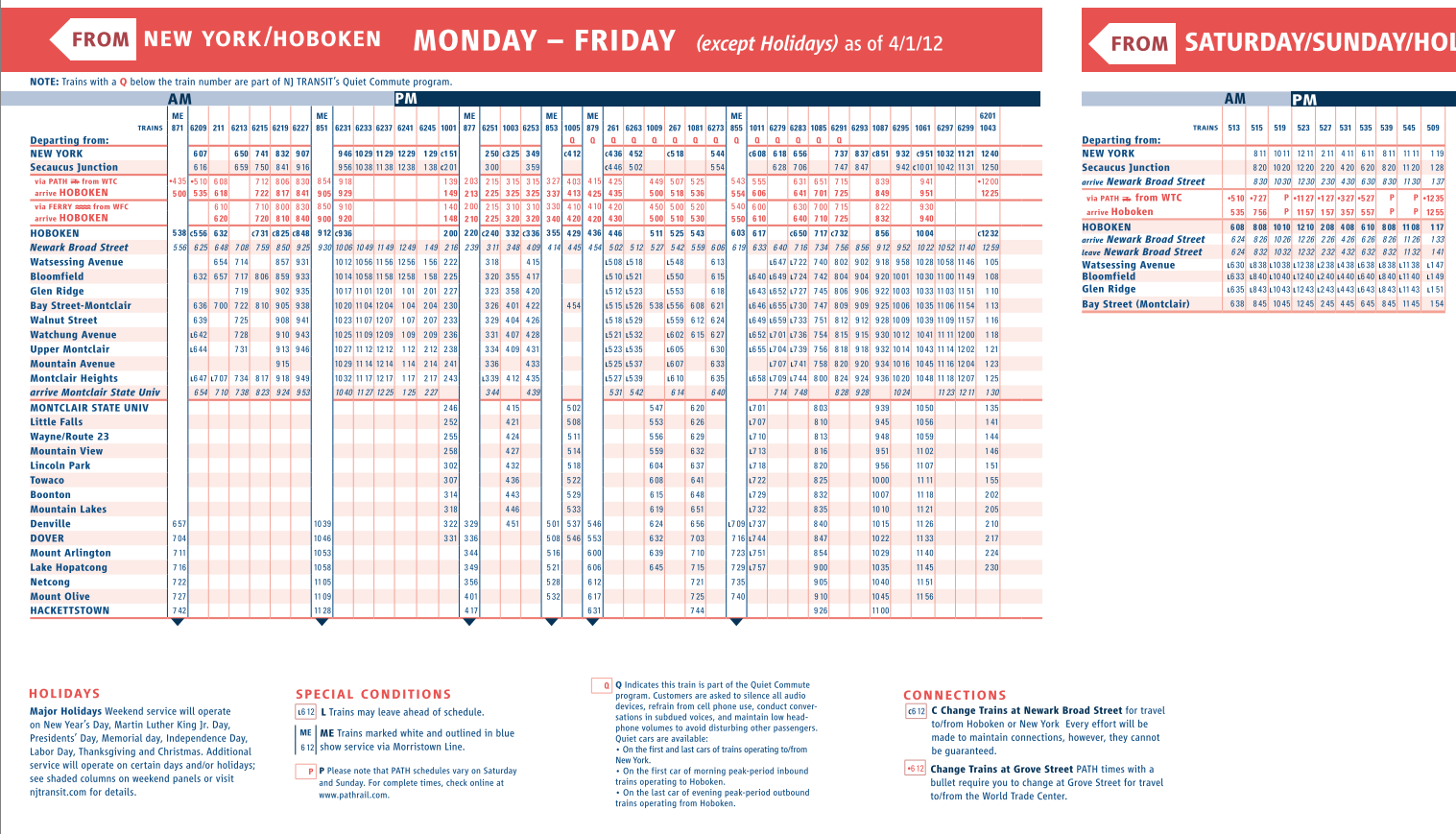 Image gallery nj transit bus schedule for 99 bus table