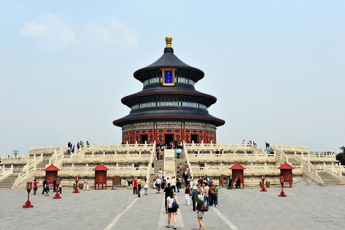 The Temple of Heaven, literally the Altar of Heaven is a complex of religious buildings situated in the southeastern part of central Beijing. The complex was visited by the Emperors of the Ming and Qing dynasties for annual ceremonies of prayer to Heaven for good harvest. It has been regarded as a Taoist temple, although Chinese Heaven worship, especially by the reigning monarch of the day, pre-dates Taoism.