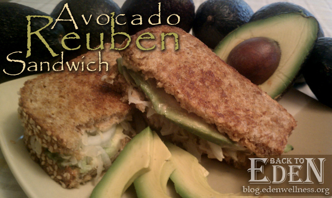 Avocado Reuben Sandwich - {Back to Eden Health Ministry}
