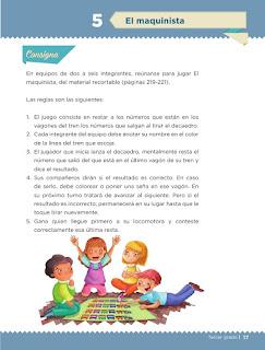 Apoyo Primaria Desafíos matemáticos 3er grado Bloque 1 lección 5 El maquinista