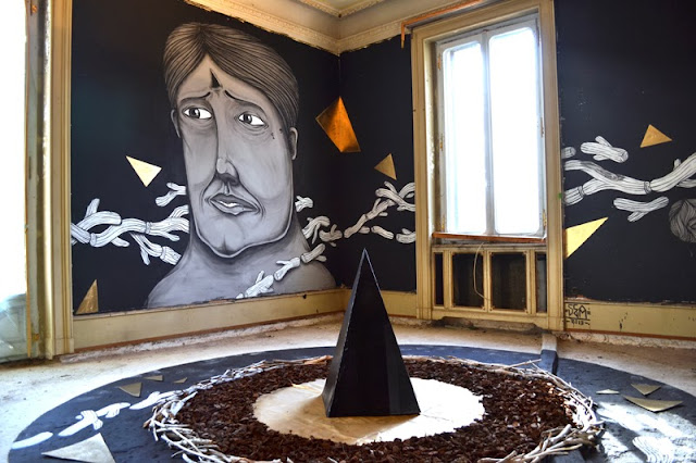 Italian Street Artist Newest Indoor Installation In Lugano, Switzerland For The Art Of Memory Project. 2