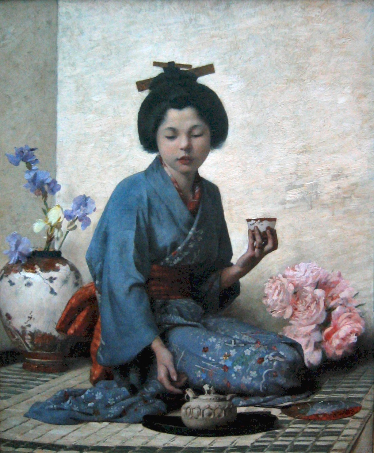 Charles  Sprague  Pearce  a  cup  of  tea
