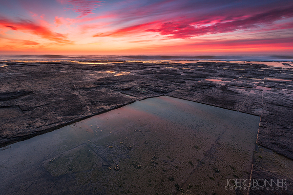 A colourful sunrise on the beach of Dwesa Nature Reserve