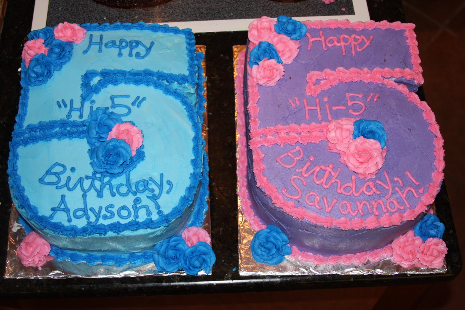 Can I Make Your Cake Happy Hi 5 Birthday For Twins