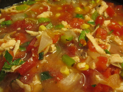 pot of Weight Watchers Tortilla Soup