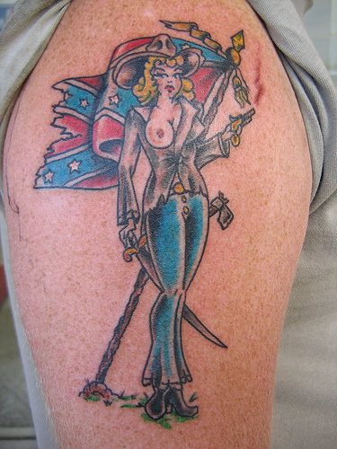 confederate flag tattoos best art designs. Black Bedroom Furniture Sets. Home Design Ideas