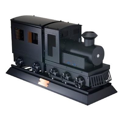 LIANLI - 蒸気機関車型Mini-ITXケース ブラック PC-CK101
