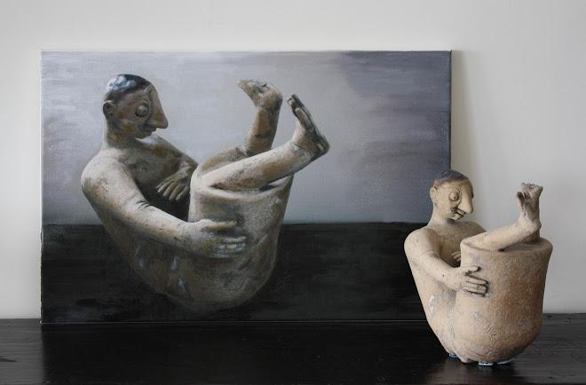 Beeldje en schilderij De Koprol