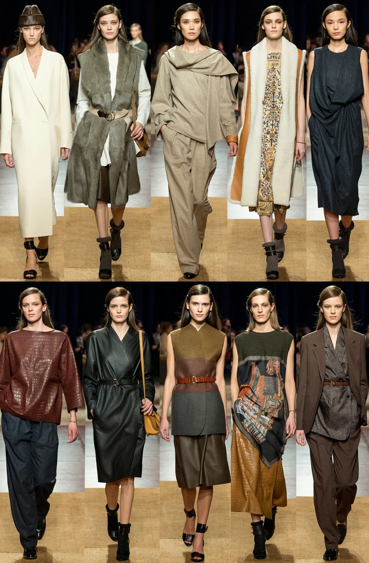 Hermès fall winter 2014 runway collection, PFW, Paris fashion week, FW14, AW14, Christophe Lemaire