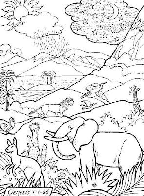 Dibujos Cristianos Dibujos Del Génesis Para Imprimir Y Colorear