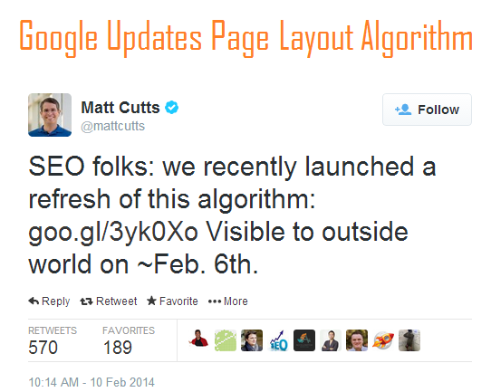Google Updates Page Layout Algorithm