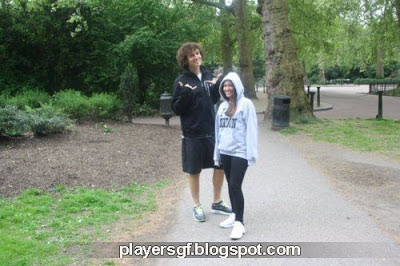 David Luiz and his hot girlfriend