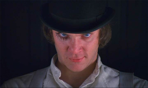 Alex protagonista de La naranja mecánica (1971), de Stanley Kubrick. Revista Making Of-Clockwork Orange