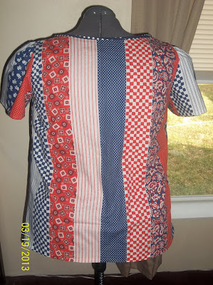 McCall's Stitch & Save 5787 Top Pattern second attempt patriotic back view