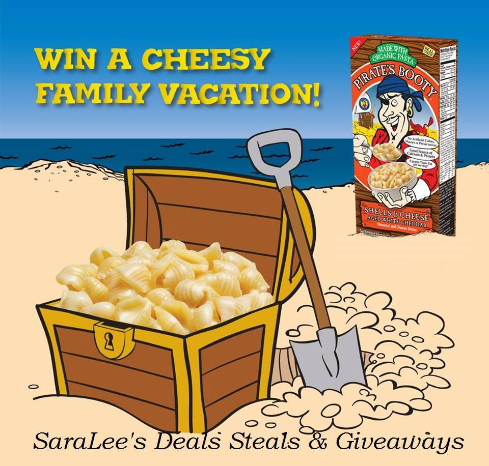 Enter the Pirate's Booty Mac & Cheese Giveaway. Ends 7/15.