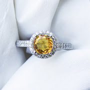 Cincin Batu Permata Yellow Citrine - SP672