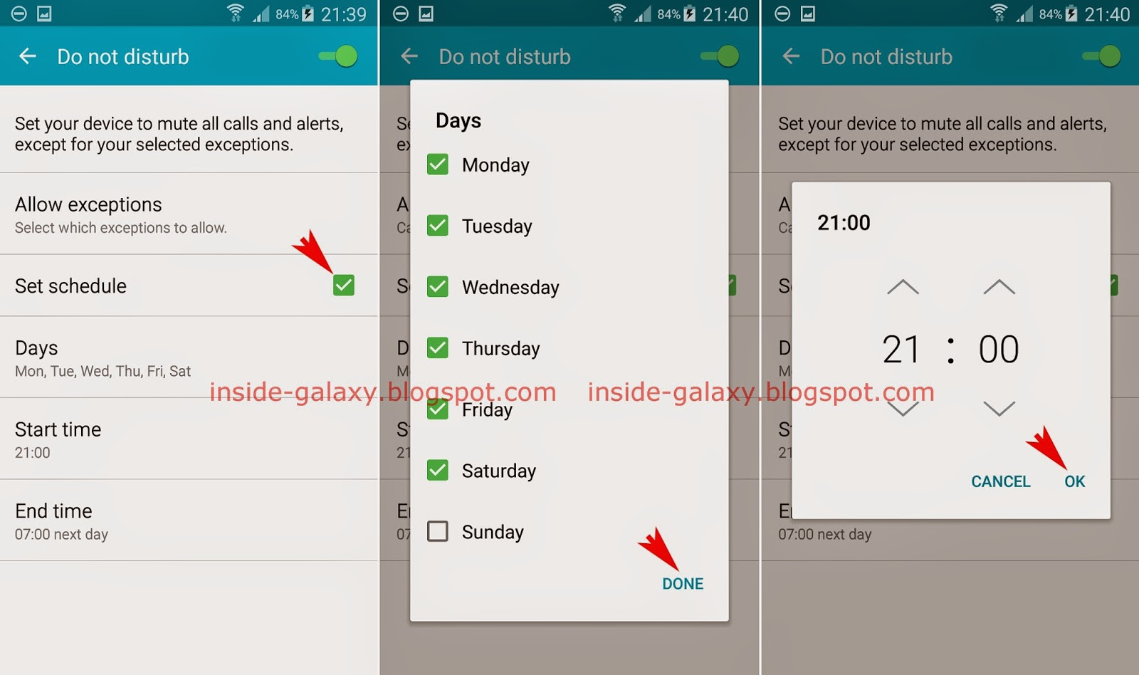 How To Set Up Schedule For Do Not Disturb Feature? If Needed, You Can  Samsung Galaxy S5: How To Block