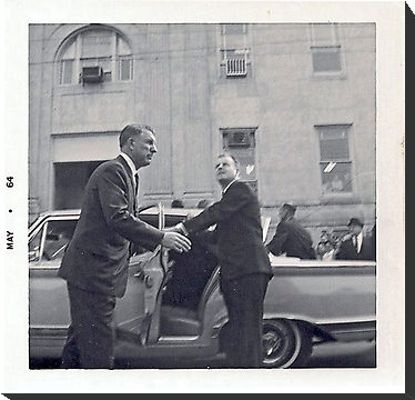 SA Bill Greer and another agent with LBJ