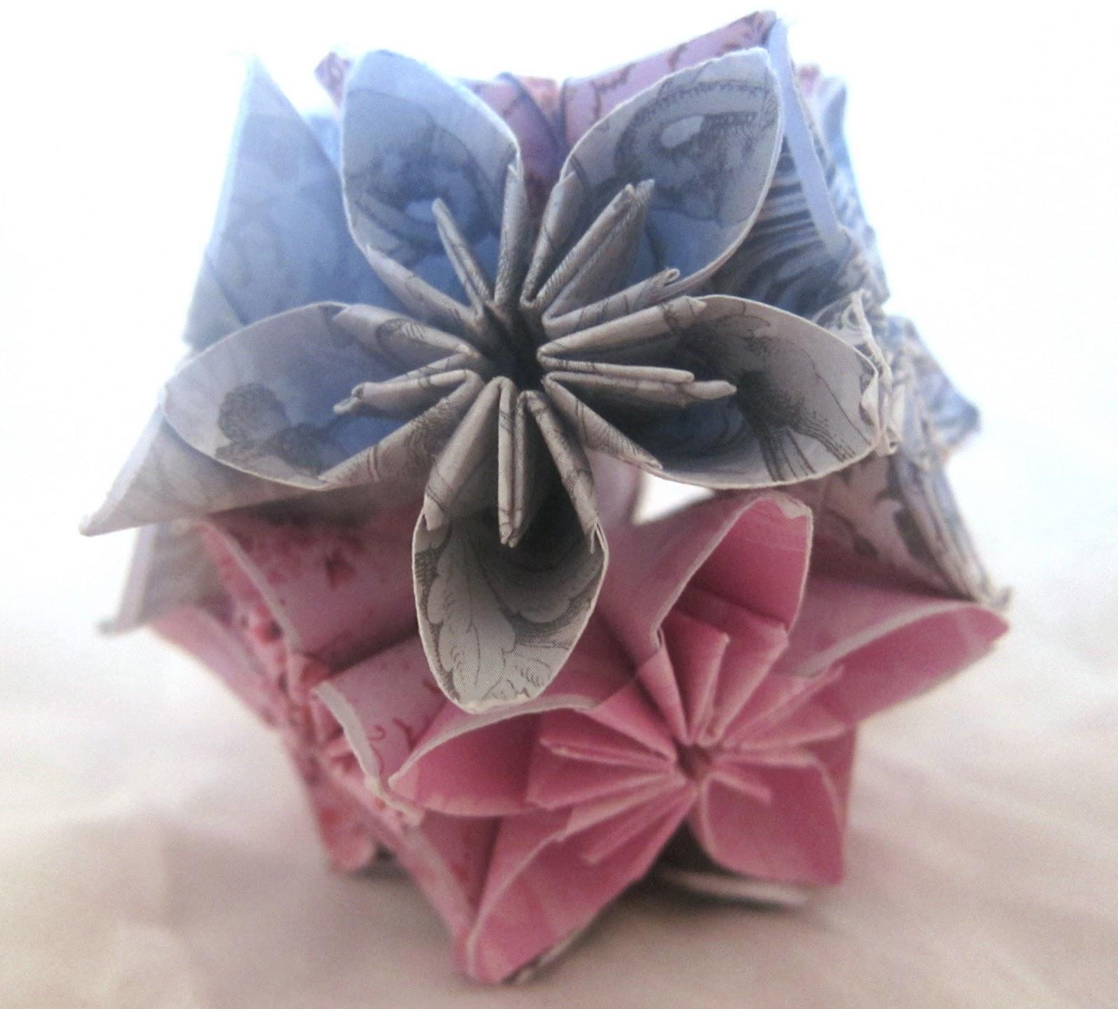 Beads Flowers Glue Paper Scissors Kusudama