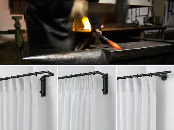 vosgesparis: Black & White curtain rods & rail for your home ...