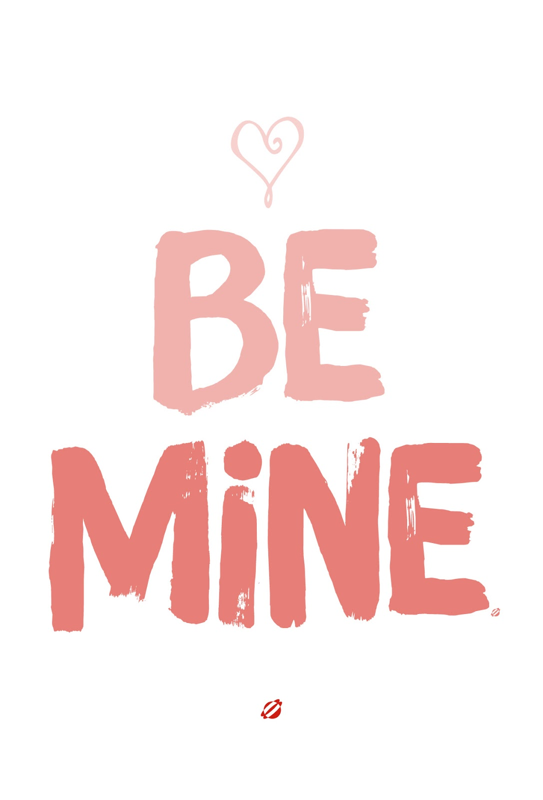 LostBumblebee ©2015 Keep It Simple- Be Mine | Free Printable | Personal Use Only.