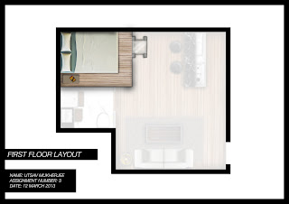 Studio Apartment Layout Render The Second Floor Is Accessible Via A