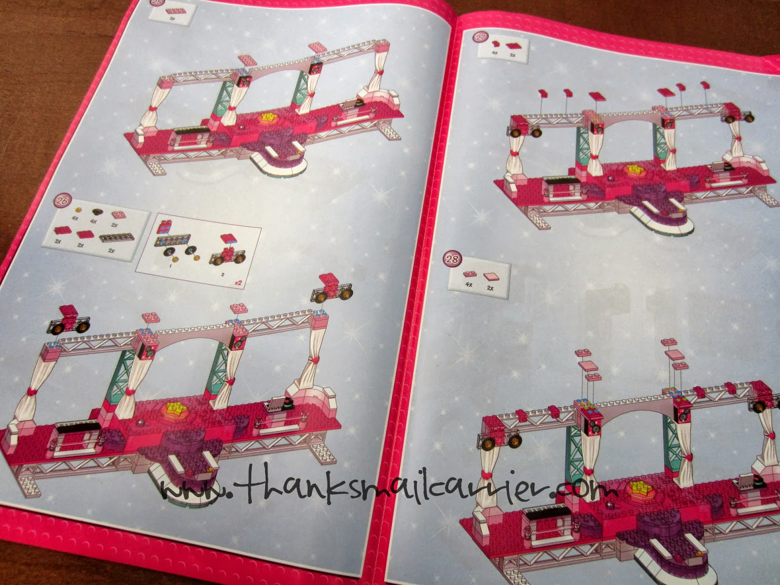 Mega Bloks Barbie Stage instructions