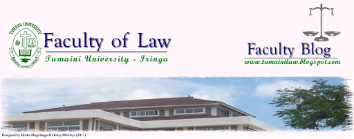 TUMAINI  UNIVERSITY - IRINGA FACULTY OF LAW BLOG