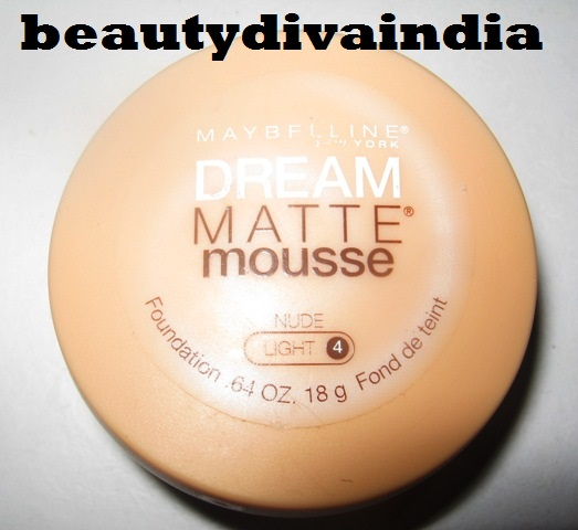 Maybelline Dream Matte Mousse Foundation Nude Light 4 Swatches