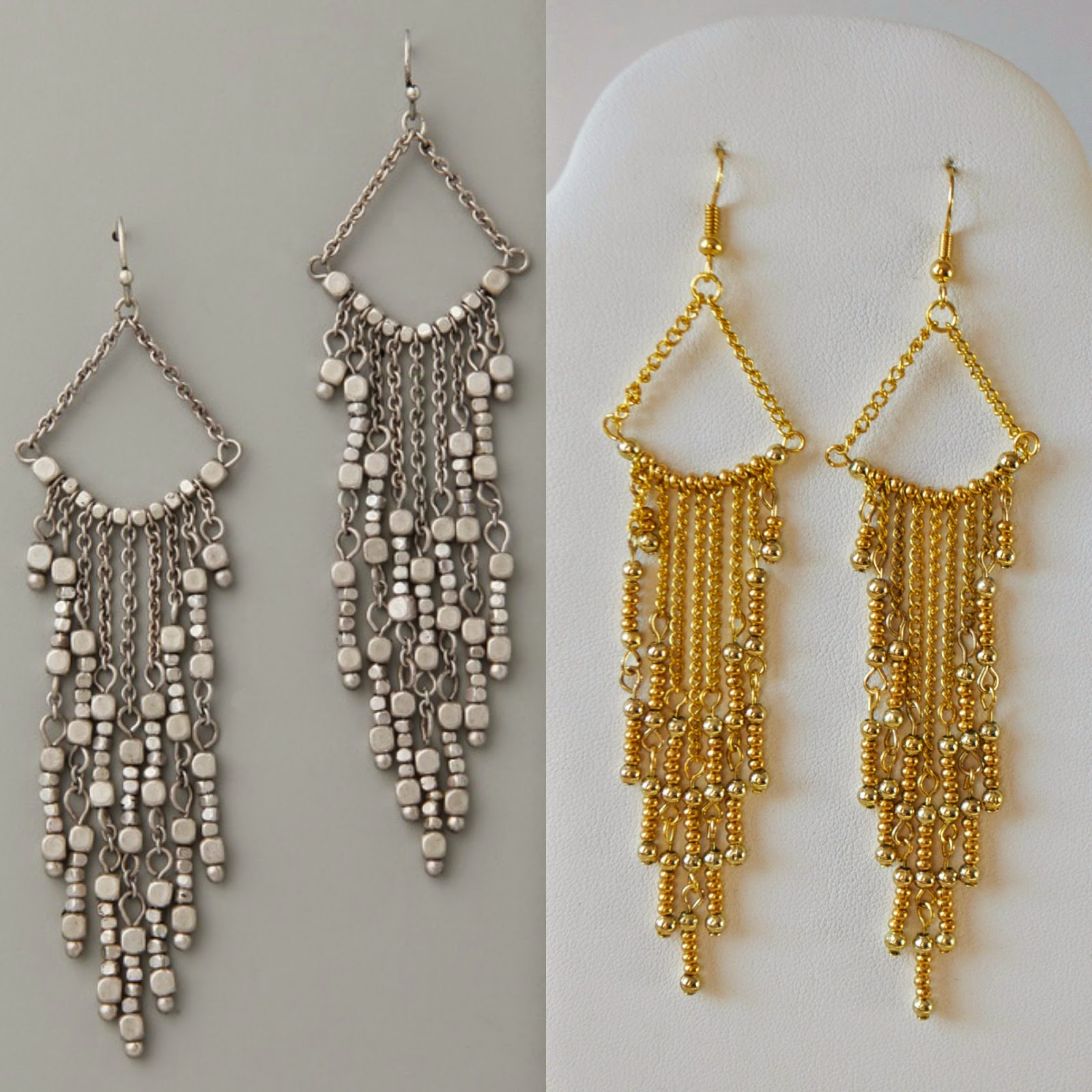 DIY Gold Chandelier Earrings My Girlish Whims