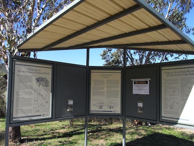Information Board, Sawn Rocks