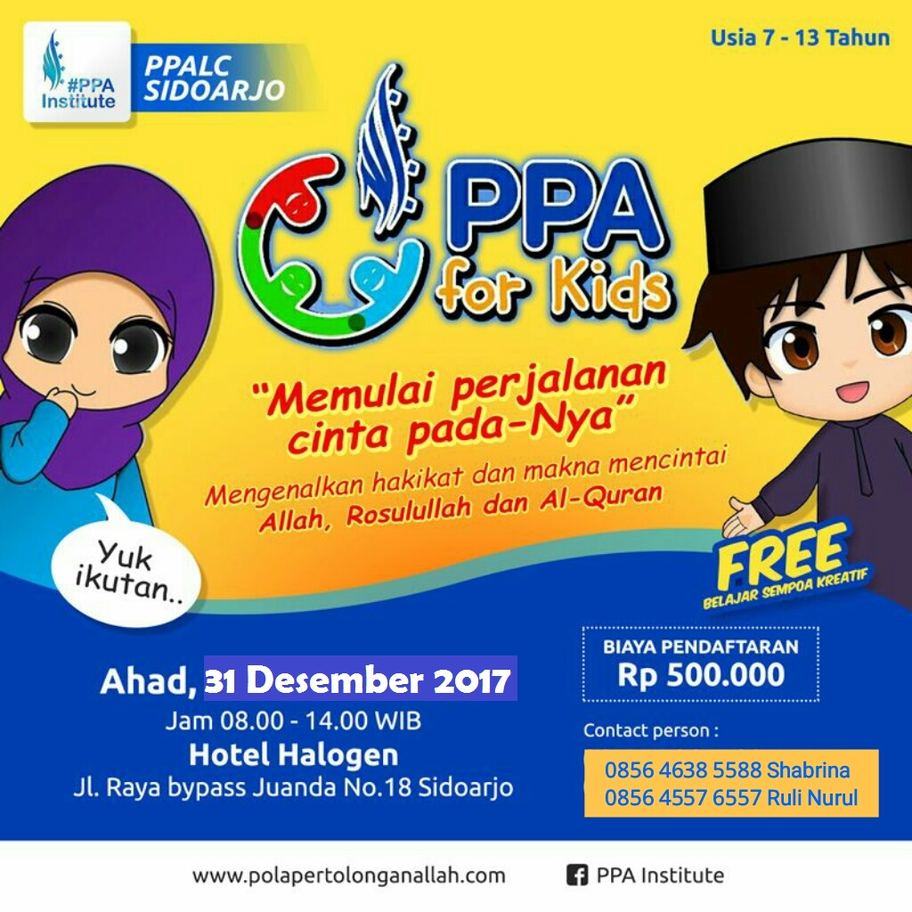 PPA FOR KIDS DAN PPA FOR TEEN 31 DESEMBER 2017
