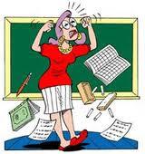 Anedota de açorianas, Professora zangada porque aluna não fez os trabalhos de casa