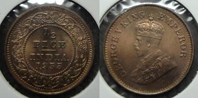 george v half pice 1935