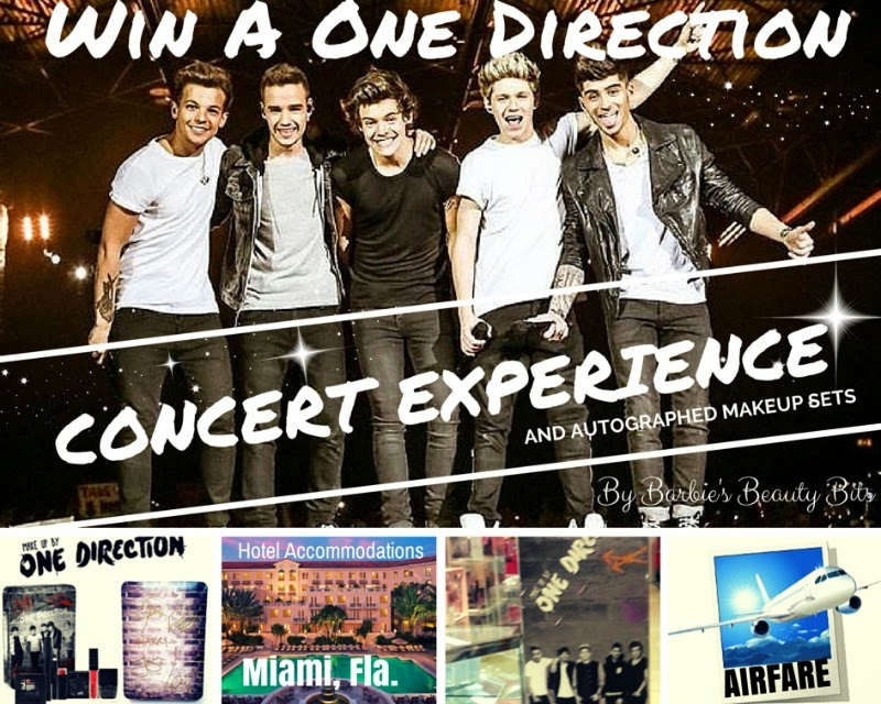 Win Tickets To See One Direction & Autographed Makeup Sets, By Barbie's Beauty Bits