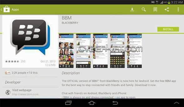 Download Gratis BBM For Android Via Google Play Store
