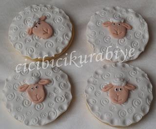 kuzu şeklinde kurabiye,koyun kurabiye