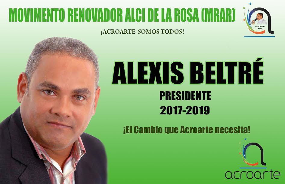 Alexis Beltré, presidente de Acroarte, 2017-2019.