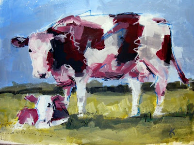 Original cow art painting 'Next Country Model'